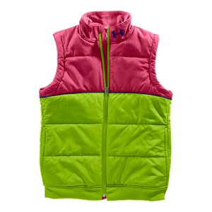 Fitness We put cute and comfort together to create the perfect layering piece for seriously cold days. Zip on over your favorite performance longsleeve or hoody, and this insulated vest locks in the warmth right where you need it. Lightweight water-resistant shell delivers superior comfort and durabilitySuper-light 250g insulation keeps you warm without weighing you downTwo-tone puffy construction with horizontal seaming detailsSide seam hand pockets Full zip front for quick and easy layeringPolyesterImported - $40.99
