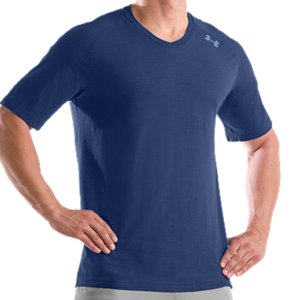 Fitness Lightweight, 4-way stretch construction improves mobility and preserves fitMade from cotton for our softest, most comfortable fabric yetSignature Moisture Transport System keeps you cool, dry, and lightDries faster than ordinary cottonRibbed V-neck collar for stretch and comfortBack shoulder screen print detailCotton/ElastaneImported - $21.99