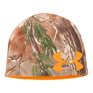 Fitness Double-knit ColdGear(R) fabric traps more heat to keep you warmerSignature Moisture Transport System wicks sweat away from the handReversible hat design lets you switch between camo and hunter orangePolyester/ElastaneImported - $19.99