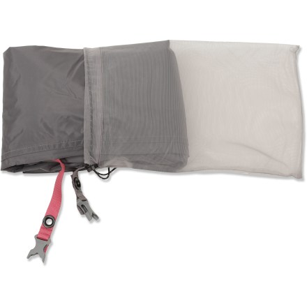 Camp and Hike Use this nylon footprint under your Exped Mira II tent to protect its floor from abrasion and wear. Sizing specific to the tent prevents water from pooling between the tent and footprint in rainy weather. Webbing stake-outs at tent corners provide easy attachment. - $59.00