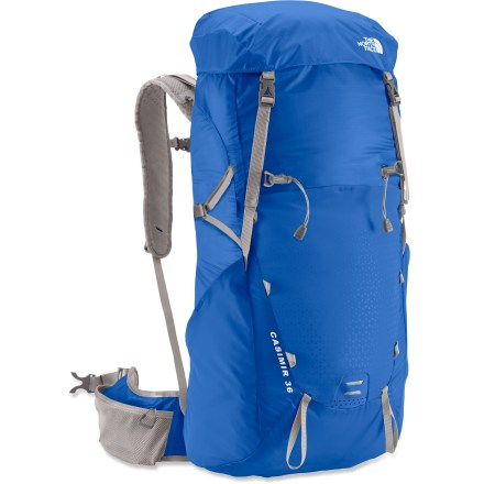 Camp and Hike The North Face Casimir 36 pack lets you eat up the miles with an innovative, minimalist design and durable, ultralight materials that let you travel far and fast in comfort. Size-adjustable, gender-specific harness and hipbelt offer an advanced design that focuses on the shoulders, lumbar and iliac crests for unsurpassed comfort. Main compartment features a hydration sleeve and port (reservoir sold separately). Versatile top lid is removable for additional weight reduction; crossover top compression strap closes the top when the lid is removed. Multiple external pockets and extra-large hipbelt pockets allow easy gear organization and access. The North Face Casimir 36 pack is made with ultralight, ripstop nylon fabric for weight savings and durability; reflective hits enhance visibility. - $124.93