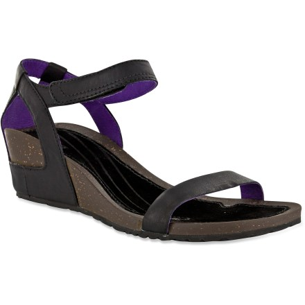 Surf Teva Cabrillo Strap Wedge Leather sandals offer a classic, stylish look and all-day comfort. - $20.83
