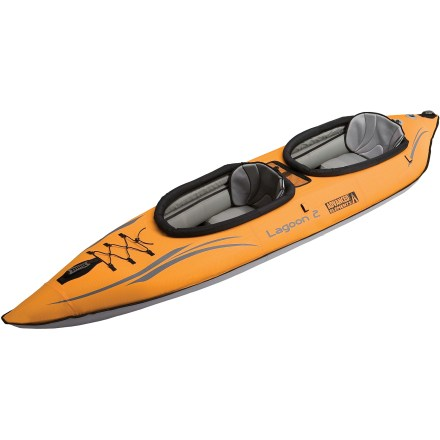 Kayak and Canoe The Advanced Elements Lagoon 2(TM) tandem inflatable kayak lets you share the fun of paddling with a partner. - $424.93