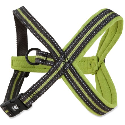 Camp and Hike Suitable for all dogs, the Hurtta padded Y-harness is especially great for dogs with back and neck problems. This harness distributes pressure evenly across the chest, protecting your dog's vertebrae. - $20.93