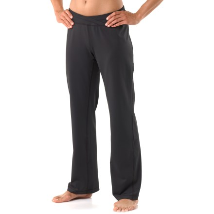 Fitness Perfect during yoga or at the gym, the women's petite REI Sariska pants offer a sleek, comfortable fit. Polyester and spandex fabric offers 4-way stretch, moisture-wicking comfort and excellent support. Brushed finish feels soft against skin. Fabric provides UPF 50+ sun protection, shielding skin from harmful ultraviolet rays. Angled side seams avoid abrasion points during yoga sessions, and flat seams enhance comfort. Comfortable elastic waistband features a bit of extra width for yoga poses, and rear of waistband is a bit higher than the front to enhance coverage. The active fit of the women's petite REI Sariska pants moves effortlessly with the body and won't bind or twist. - $33.99