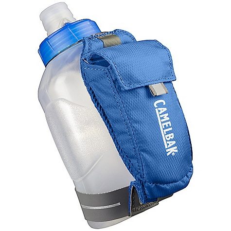Fitness CamelBak Arc Quick Grip 10oz Bottle DECENT FEATURES of the CamelBak Arc Quick Grip 10oz Bottle Includes the 10 oz Podium Arc bottle Self-sealing Jet Valve eliminates splatters and spills Lightweight Easy to squeeze BPA-Free TruTaste Polypropylene with HydroGuard lets you taste water--not the bottle Lockout for leak-proof transport Lightweight breathable strap has a small pocket for keys and allows for bottle rotation based on user preference The SPECS Hydration Capacity: 10 oz / 0.3 L Total Capacity: 15 cu in/ .25 L+ 10oz bottle Weight: 0.35 oz / 10 g Dimensions: 4.8 x 2.4 in / 12.1 x 6 cm Fabric: 70D Diamond Clarus with DWR + 1000 mm PU & Air Mesh - $18.95
