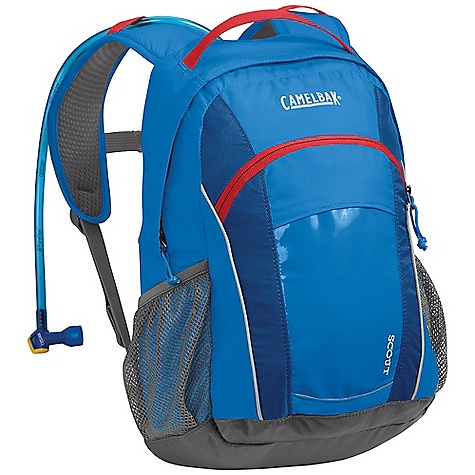 Fitness Free Shipping. CamelBak Kids' Scout Hydration Pack DECENT FEATURES of the CamelBak Kids' Scout Hydration Pack 1/4 turn - easy open/close cap Lightweight fillport Patented Big Bite Valve HydroGuard technology PureFlow tube Easy-to-clean wide-mouth opening Discovery pocket Sternum strap whistle Side pockets Designed to Carry: Extra layers, food, trail maps, sunglasses, sticks and bugs The SPECS Hydration Capacity: 50 oz / 1.5 L Total Capacity: 670 cu in / 11L + 1.5L Reservoir Weight: 16 oz / 460 g Dimensions: 16 x 9.5 x 7 in / 40 x 24 x 18 cm Torso Length: 14 in / 36 cm Back Panel: Diamond Mesh Harness: Kid's Fit Diamond Mesh Fabric: 70D Diamond Clarus & 420 Nylon with DWR + 1000 mm PU - $58.95