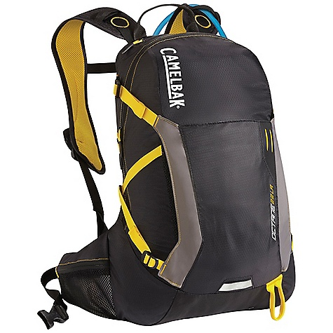 Fitness Free Shipping. CamelBak Octane 22 LR 70oz Hydration Pack DECENT FEATURES of the CamelBak Octane 22 LR 70oz Hydration Pack Antidote Lumbar Reservoir with Quick Link System 1/4 turn - easy open/close cap Lightweight fillport Patented Big Bite Valve HydroGuard technology PureFlow tube Easy-to-clean wide-mouth opening Lumbar compression Ultra-light materials Essentials pocket Front and back reflectivity Safety whistle Tool attachment Quick stash overflow storage Designed to Carry: Extra layers, ultra-light weather protection, energy bars, head lamp, trail maps, compass The SPECS Hydration Capacity: 100 oz / 3 L Lumbar Total Capacity: 1160 cu in/ 19L + 3L Reservoir Weight: 1.50 lbs / 690 g Dimensions: 20 x 29.5 x 9.5 in / 51 x 75 x 24.5 cm Torso Length: 16.5 in / 42 cm Back Panel: Air Mesh Harness: Ultra-light 3D Mesh with Integrated pocket and Slider Sternum Strap Belt: Fixed 25mm / 1in. with cargo pockets Fabric: 70D Diamond Box Rip, 230D Taffeta & 420D Nylon with DWR + 1000mm PU - $128.95