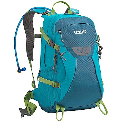 Camp and Hike On Sale. Free Shipping. CamelBak Women's Trinity 100 oz Hydration Pack DECENT FEATURES of the CamelBak Women's Trinity 100 oz Hydration Pack Designed for women Shorter torso length S-curved shoulder harness for more comfortable carry Harness hardware moved to base of pack to reduce potential friction points Soft-touch fabric harness lining for added comfort next to bare skin Fully adjustable sternum strap for added stability Narrower harness spacing to fit women's shoulders Foam pods covered in soft mesh create multiple ventilation channels Quick Link System 1/4 turn - easy open/close cap Lightweight fillport Dryer arms Center baffling and low-profile design Patented Big Bite Valve HydroGuard technology PureFlow tube Easy-to-clean wide-mouth opening Hike essentials organizer pocket Quick stash overflow pocket Four point compression straps Sunglasses and media pocket Tool attachment Side pockets Designed to Carry: Extra layers, food, head lamp, trail maps, compass, trekking poles, ice axe, media, sunglasses The SPECS Hydration Capacity: 100 oz / 3 L Total Capacity: 1525 cu in / 25L + 3L Reservoir Weight: 2.13 lbs / 970 g Dimensions: 21 x 10.5 x 10 in / 53 x 26 x 25 cm Torso Length: 17.5 in / 44 cm Back Panel: Air DirectorTM Harness: Women's Dynamic Suspension with Slider Sternum Strap Belt: Removable 38mm / 1.5in. stability Fabric: 100D Double Diamond & 420 Nylon with DWR + 1000 mm PU - $86.00