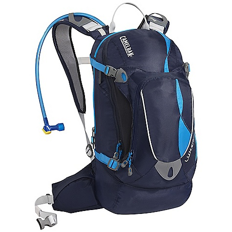 Fitness Free Shipping. CamelBak Women's L.U.X.E NV Hydration Pack DECENT FEATURES of the CamelBak Women's L.U.X.E NV Hydration Pack Designed for women Shorter torso length S-curved shoulder harness for more comfortable carry Harness hardware moved to base of pack to reduce potential friction points Velvetex harness lining for added comfort next to bare skin Fully adjustable sternum strap for added stability Articulating pods for a fully-ventilated back panel that keeps the load off your back Quick Link System, 1/4 turn - easy open/close cap Lightweight fillport Dryer arms Center baffling and low-profile design Patented Big Bite Valve HydroGuard technology PureFlow tube Easy-to-clean wide-mouth opening Helmet hook Media pocket Bike tool organizer pocket Four point compression Stretch overflow storage Waist belt pockets Designed to Carry: Helmet, multi-tool, pump, spare tube, extra layer, lunch, MP3, phone, cards and cash, keys The SPECS Hydration Capacity: 100 oz / 3 L Total Capacity: 488 cu in / 8L + 3L Reservoir Weight: 1.60 lbs / 740 g Dimensions: 17.5 x 8 x 9 in / 44 x 20 x 23 cm Torso Length: 15 in / 38 cm Back Panel: NV Harness: Women's Specific S-Shape with D-Fit Suspension and Slider Sternum Strap Belt: Fixed 20mm / .75in. stability Fabric: 70 / 140D Dobby with DWR + 1000mm PU - $133.95