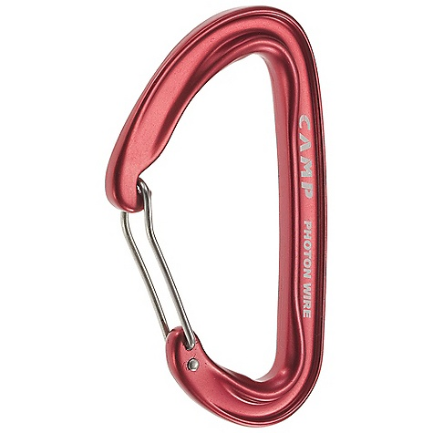Climbing Camp USA Photon Wire Carabiner DECENT FEATURES of the Camp USA Photon Wire Carabiner Rock Climbing, Ice Climbing, Alpinism, General Mountaineering The lightest full-size carabiner in the world Full-size is great for use while wearing gloves The SPECS Weight: 29 g, 1.02 oz Major Axis: 21 kN Minor Axis: 7 kN Open Gate: 9 kN Gate Opening: 28 mm - $7.95