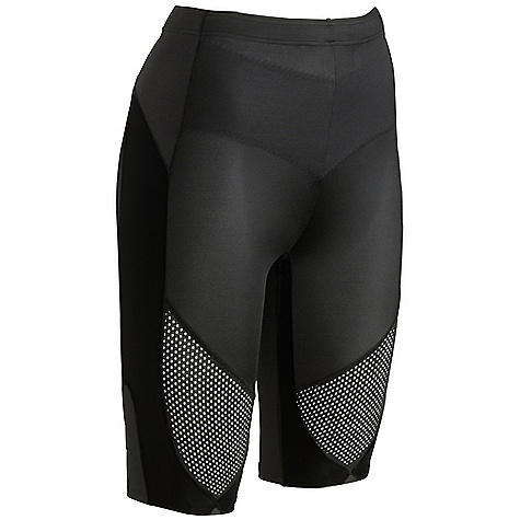 Entertainment Features of the CW-X Women's Stabilyx Ventilator Shorts 80% Nylon / 20% Lycra 2-way stretch Support Web: Provides Targeted Support to knee and core joints and muscles 80% COOLMAX / 20% Lycra 4-way stretch body fabric: Helps to keep the body cool and dry, pulls moisture away from the body and carries it to the outside of the tight Healtha+ 4-way stretch mesh fabric for Stabilyx Ventilator Shorts UPF 40+ for UVA/UVB protection Flat Seam Constuction: Eliminates abrasion, increases comfort, and enhances Fit by reducing bulky seams Abdominal support panel: Provides extra support to the lower abdominal muscles Reflective in. flashin. and logos: Provide extra visibility for nighttime activities Women's specific design and pattern: Provides comfort and ease of movement with COOLMAX gusseted crotch liner Key pocket and double-reinforced waistband with flat draw-chord - $79.95
