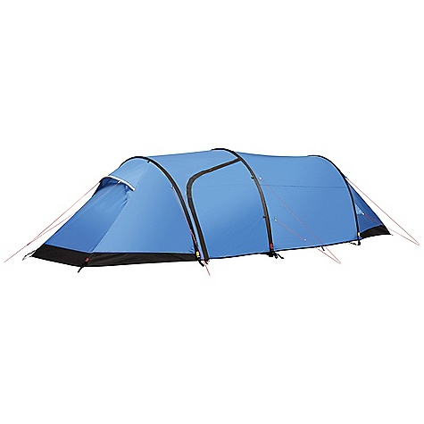 Camp and Hike Free Shipping. Fjallraven Akka Endurance 3 Person Tent DECENT FEATURES of the Fjallraven Akka Endurance 3 Person Tent Silicone treated polyester outer fabric with 4,000 mm water column PU coated taffetta polyamide floor fabric with 10,000 mm water column Reinforcement fabric located on both ends of tent Vestibule has two doors, one on each side Reflective door markings 2 mm reflective guylines Attachment points on outer tent for Nunjes Tarp Attachment points for Gear Loft, Gear Pockets and Organizer Wall The SPECS Capacity: 3 person Weight: 4200 g Construction: Tunnel Outer: 30D Triple-Rip Polyester, both sides siliconized Inner: 30D Ripstop polyamide water resistant Floor: 70D polyamide PU-coated Mosquito Net: Polyester mesh Poles: Aluminum 7075-T9, 3 x 10.2 mm Pegs: Y-pegs Stuffed Size: 20 x 50 cm - $799.95