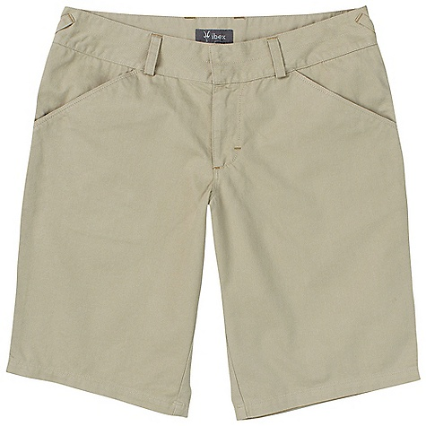 Free Shipping. Ibex Women's Trooper II Long Short DECENT FEATURES of the Ibex Women's Trooper II Long Short Regular fit; mid-rise Wide waistband with hook and eye closure Invisible snap flap back pockets Imported The SPECS Inseam: 8-14: 12in., 6: 11.5in., 4: 11in., 2: 10in. 48% Organic Cotton (GOTS Certified), 27% Recycled Polyester, 25% Hemp Lightweight Twill - $110.00