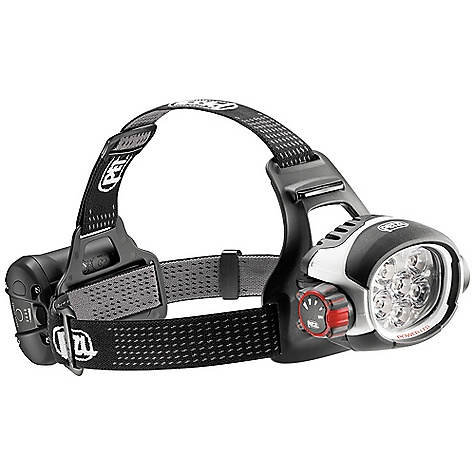 Free Shipping. Petzl Ultra Rush Headlamp FEATURES of the Petzl Ultra Rush Headlamp Ultra-powerful uniform lighting up to 760 lumens Long-distance beam up to 170 meters Constant lighting guarantees performance that doesn't diminish for the entire life of the battery (when the battery is almost depleted, it switches to reserve lighting) Mixed beam with four lighting levels allows the user to choose between power and battery life according to his needs ACCU 2 ULTRA Lithium-Ion high-performance rechargeable battery (2600 mAh)offers the perfect balance between capacity and compactness, making it comfortable on the head Lithium-Ion technology for excellent performance at low temperatures- energy gauge on the battery Quick charger included (completely charged in 3 hours) Rotating selector knob is easy to use, even with gloves, allowing easy access to different modes Quick connection system allows quick and easy removal of battery Light flashes to signal switch to reserve lighting mode Front and back comfort plates with adjustable elastic headband for an excellent fit on the head Waterproof to -1 m for 30 minutes Excellent resistance to falls, to impacts and to crushing - $429.95