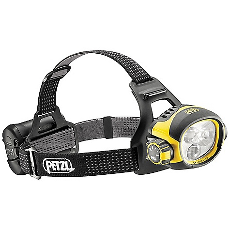 Free Shipping. Petzl Ultra Vario Headlamp DECENT FEATURES of the Petzl Ultra Vario Headlamp Headlamp keeps the hands free for work: may be worn on the head with the headband, or mounted on a helmet (ALVEO or VERTEX) with removable plates (included)? Constant lighting: guaranteed lighting performance that does not diminish during the entire rated battery life?? Switches to reserve lighting when rechargeable battery is almost discharged: lights to 43 lumens for a minimum of 1 hour?? Low intensity mode: wide beam with relatively low intensity favors a long battery life and prevents blinding others?? Close-range work mode: wide beam with intensity adapted to comfortable close-range vision? Movement mode: mixed beam offers a focused component for easily moving around?? Distance vision mode: highly focused beam for spotting (maximum range)?? Simple and comfortable to use:? Rotating selector knob is easy to use, even with gloves, allowing quick access to the different modes?? Quick connection system makes the battery easy to remove?? Front and back comfort plates with adjustable elastic headband for an excellent fit on the head?? High-performance rechargeable battery is the optimal compromise between capacity and size, making it comfortable on the head?? 2600 mAh Lithium-Ion rechargeable battery offers excellent performance at low temperatures?? Energy gauge allows monitoring of battery's charge level? ? Light flashes to signal switch to reserve lighting mode?? Charger included; quick charge in 3 hours for frequent use?? Excellent resistance to falls, to impacts and to crushing?? Waterproof (to -1 m for 30 minutes) and dustproof (IP 67) No maintenance required after immersion? The SPECS Weight: 375 g (with ACCU 2 ULTRA)? - $429.95