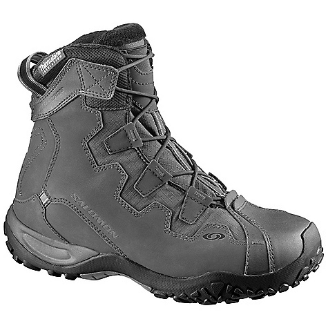 Camp and Hike Free Shipping. Salomon Men's Snowtrip TS WP Boot The SPECS Weight: 513 g/18.1 oz (SIZE 7W), 570 g/20.1 oz (SIZE 9M) Upper: Gusseted tongue, Optimized fit for Women, Heel foam, Synthetic suede Lining membrane: Waterproof lining material: Furry lining, Thinsulate 200gr, syntetic fur Sole construction midsole: Molded EVA Outsole: Non-marking Contagrip Sockliner: Die cut EVA - $129.95