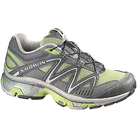 Fitness Free Shipping. Salomon Women's XT Wings 2 Shoe The Women's XT WINGS 2 Shoe by Salomon. Top of the line running shoe combining outstanding cushioning and stability with agility. SPECIFICATIONS of the Women's XT WINGS 2 Shoe by Salomon Weight: 325 g / 11.5 oz (Size US 7) Upper: Protective rubber toe cap Upper: Sensifit Upper: Mud guard Upper: Quicklace Upper: Optimized fit for Women Upper: Rubber Belt Upper: Quick drying breathable mesh Upper: Strategically placed textile parts Lining material: Textile Sole Constructions midsole: Triple density EVA Sole Constructions midsole: Pronation Control Sole Constructions Outsole: Non marking Running Contagrip Sole Constructions Sockliner: Molded EVA Sole Constructions Sockliner: EVA shaped footbed Sole Constructions Sockliner: OrthoLite Sole Constructions Chassis: AC Muscle 2 Sole Constructions Chassis: Agile Chassis System - $129.95