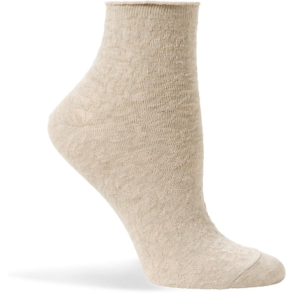 Eddie Bauer Textured Anklet Socks - Textured anklet socks in versatile neutrals and fun, bold hues. Knit from soft cotton and nylon they have a touch of spandex stretch for added comfort. Imported. - $2.99