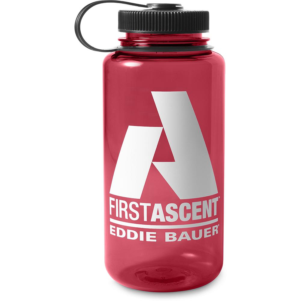 Climbing Eddie Bauer 32oz Bottle - We've customized a Nalgene 32-ounce wide mouth bottle with a bold First Ascent logo on one side; the other features a timeline of Eddie Bauer-outfitted first ascents alongside graduated millimeter markings that allow you to see how much fluid is in your bottle. It offers superior impact resistance, and is suitable for both warm and cold beverages. The lid attaches to the bottle with a loop so the two pieces always stay together - and the bottle can be attached to a belt or pack. The wide mouth easily accommodates ice cubes and most water filters. BPA free, dishwasher safe (top rack only). - $5.99