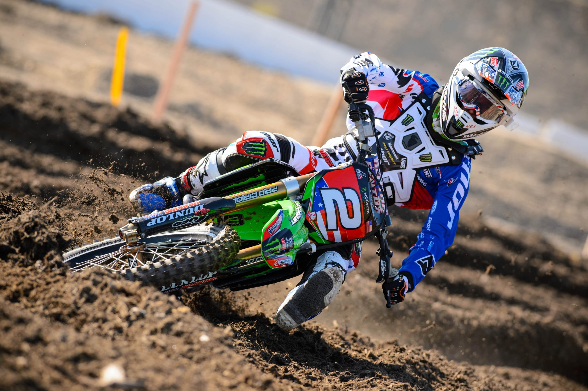 Motorsports Blake Baggett debuts the USA Team gear for the 2012 Motocross of Nations!