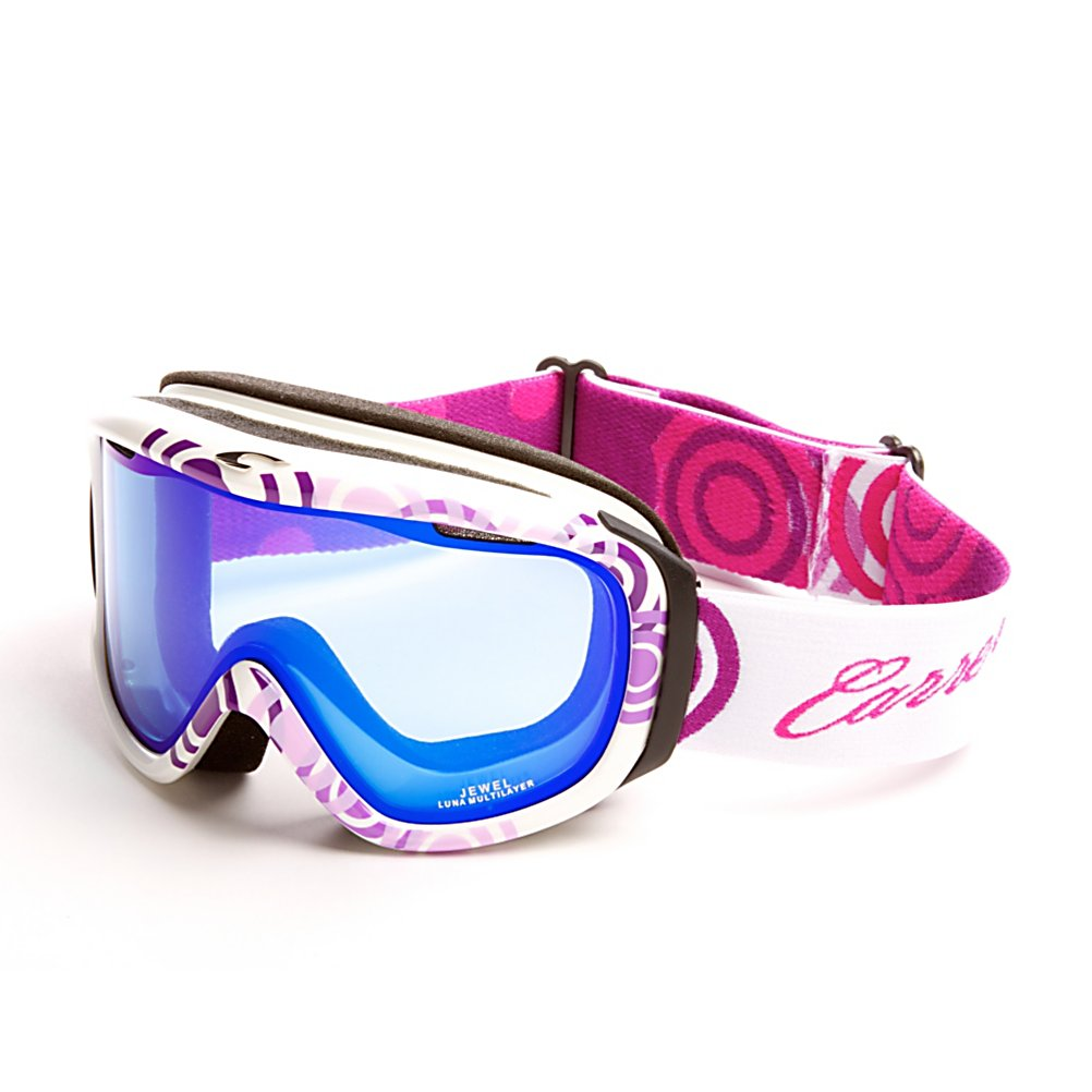 Ski Carrera Jewel Womens Goggles - Keep your vision and face protected while out on the slopes with the Carrera Jewel Goggles. These goggles are helmet compatible which will give you a secure and comfortable fit. An anti-fog and anti-scratch lens treatment will keep your field of vision clear in all types of conditions. The Passive ventilation system will also help keep your vision clear and highly visible in all types of weather conditions. An outrigger positioning system on the Carrera Jewel goggles ensure these goggles will fit comfortably against your face. . Headphones Included: No, Product ID: 296313, Model Year: 2011, Has Fan: No, Lens Coating: n/a, Lens Shape: Flat, Frame Size: Fits Most Faces, Helmet Compatible: Yes, Rubberized Strap: No, Photochromatic: No, Polarized: No, Spherical Lens: No, Frame Size: Medium, Fog Fan: No, Comes w/ Case: No, OTG: No, Category: Womens, Race: No - $39.99