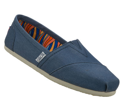 Relax into looking your best with the SKECHERS Bobs - Ballyhoo shoe.  Soft faded canvas fabric upper in a slip on casual alpargata flat with stitching and overlay accents. - $36.00