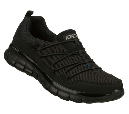 Improve your outlook with fun sporty comfort in the SKECHERS Synergy - Loving Life shoe.  Smooth faux leather and mesh fabric upper in a slip on sporty walking sneaker with FlexSole and Memory Foam Plus insole. - $60.00