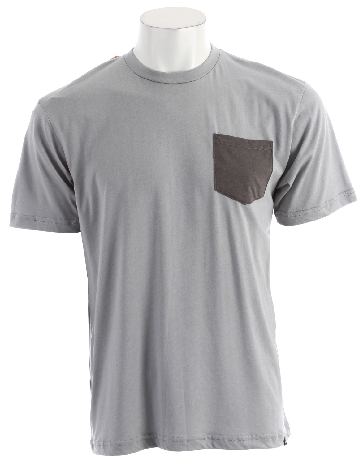 Arbor's premium comfort 70% viscose from bamboo / 30% organic cotton jersey t-shirt, custom made in Los Angeles, regular fit, front breast pocket, printed neck label. - $24.95