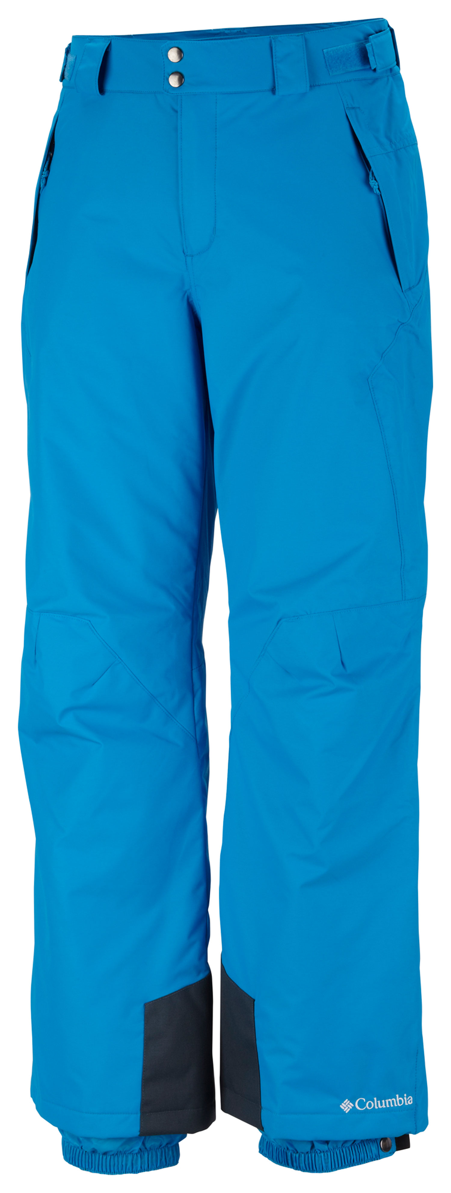 Ski Key Features of the Columbia Bugaboo II Ski Pants: FABRIC Shell: 100% nylon Legacy twill, 100% polyester. Lining: 100% polyester tricot. Insulation: 100% polyester 40g Microtemp insulation. FIT Modern Classic Omni-Tech waterproof/breathable critically seam sealed Adjustable waist tabs Internal adjustable leg gaiter Exterior adjustable waist Reinforced cuff guard Articulated knees - $66.95