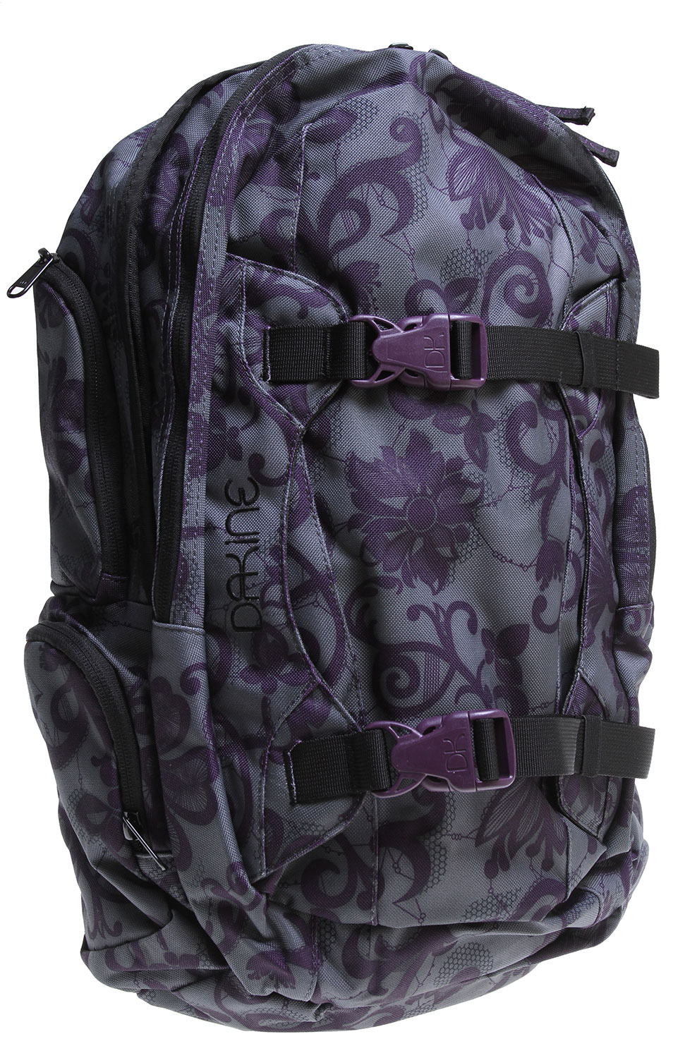 "Surf Key Features of the Dakine Mission Backpack 25L: Vertical board carry straps Fleece lined goggle pocket Organizer pocket Fleece lined sunglass pocket Padded laptop sleeve Fits most 15"" laptops Padded waist belt Adjustable sternum strap 1500 cu. in. [ 25L ] 21 x 11 x 8"" [ 53 x 28 x 20cm ] 2 lbs. [ .9kg ] Materials 600D Polyester - $48.95"