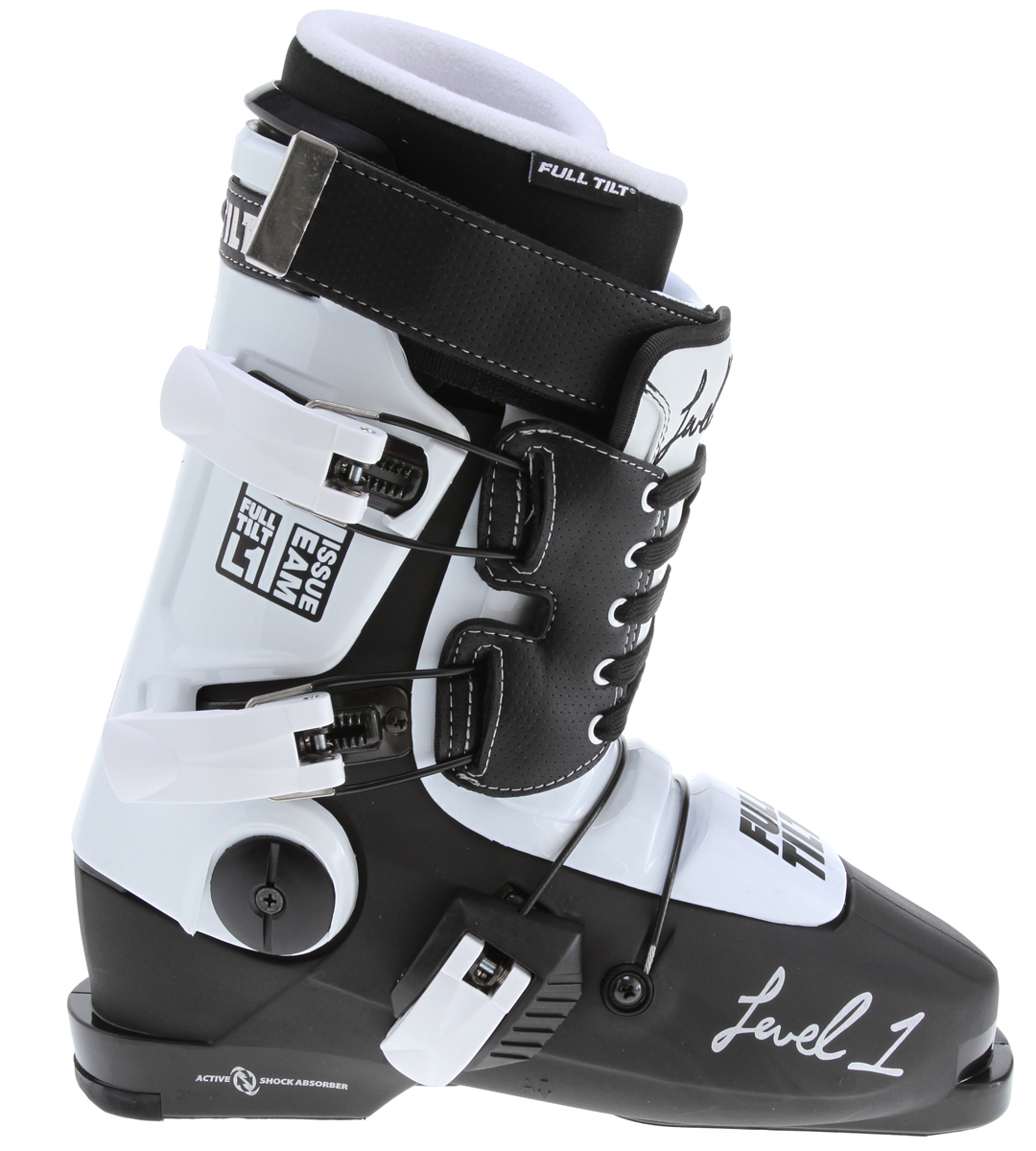 Ski Key Features of the Full Tilt Level 1 Ski Boots: Original Shell 99mm width last Pro Intuition Liner w/Powerwrap & J-Bar #6 Flex / 7 Rib tongue Active Bootboard Nylon Ratchet Buckles - $384.95