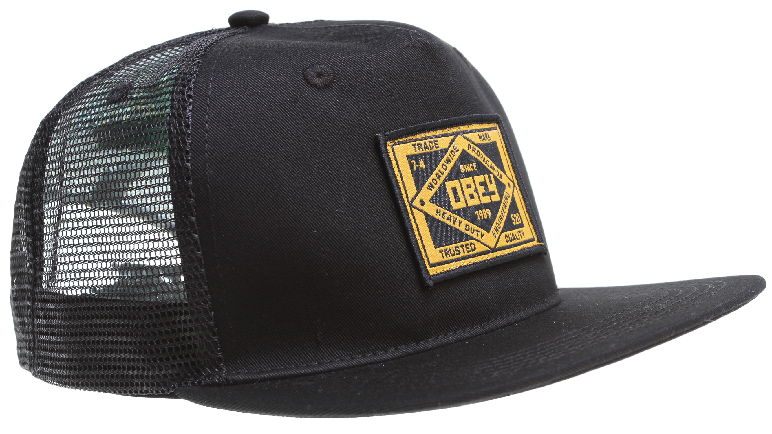 Key Features of the Obey Trademark Trucker Cap: Mesh snapback cap with custom trademark patch on front 60% Cotton / 40% Polyester - $23.95