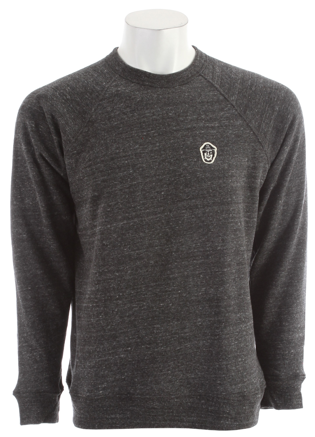 Key Features of the Obey Captain Crew Sweatshirt: Slim fit crew neck fleece with raglan sleeves Features heathered tri-blend fabrication Includes custom OBEY pirate patch on chest and specialty main label at interior neck 50% Polyester / 38% Cotton / 12% Rayon - $44.95