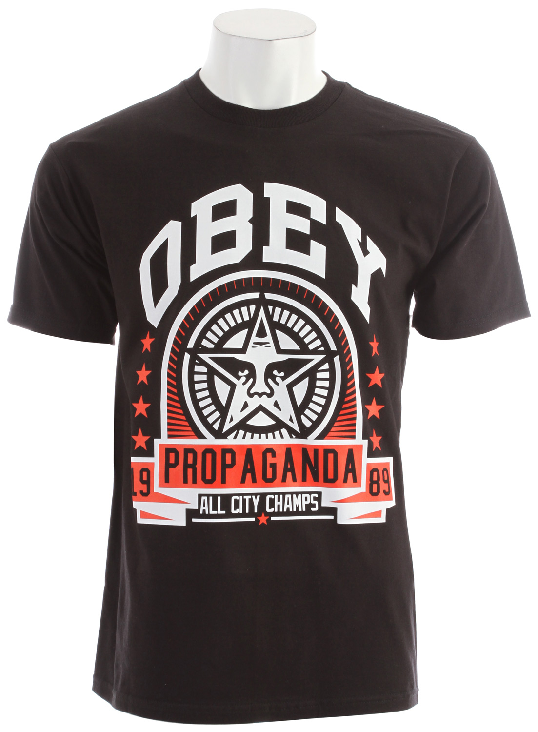 Key Features of the Obey Extra Innings Basic T-Shirt: Heavy weight Regular fit tee with inset Rib Crew neck 100% Cotton - $20.95