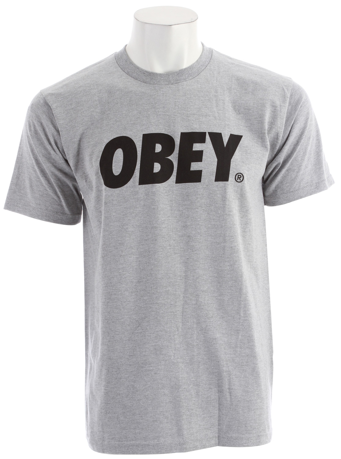 Key Features of the Obey Obey Font Basic T-Shirt: Heavy weight Regular fit tee with inset Rib Crew neck 100% Cotton - $20.95