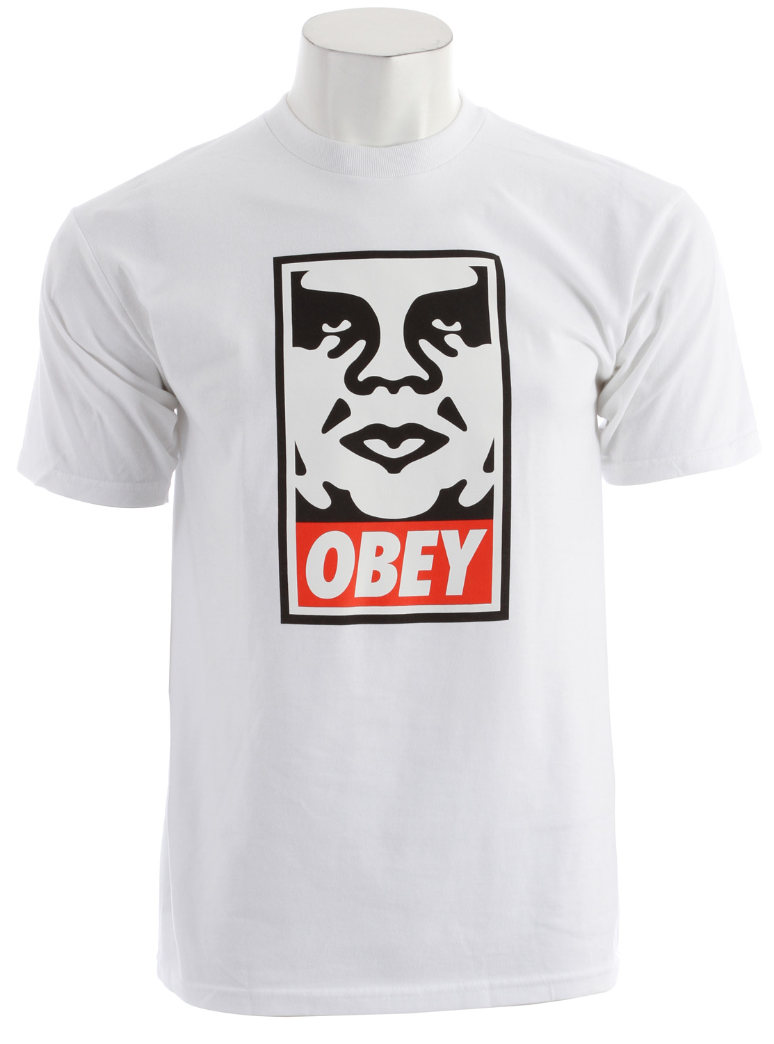 Key Features of the Obey Obey Icon Face Standard Issue Basic T-Shirt: OBEY medium weight Slim fit tee with binded rib neck 50% Polyester / 29% Cotton / 25% Rayon - $20.95