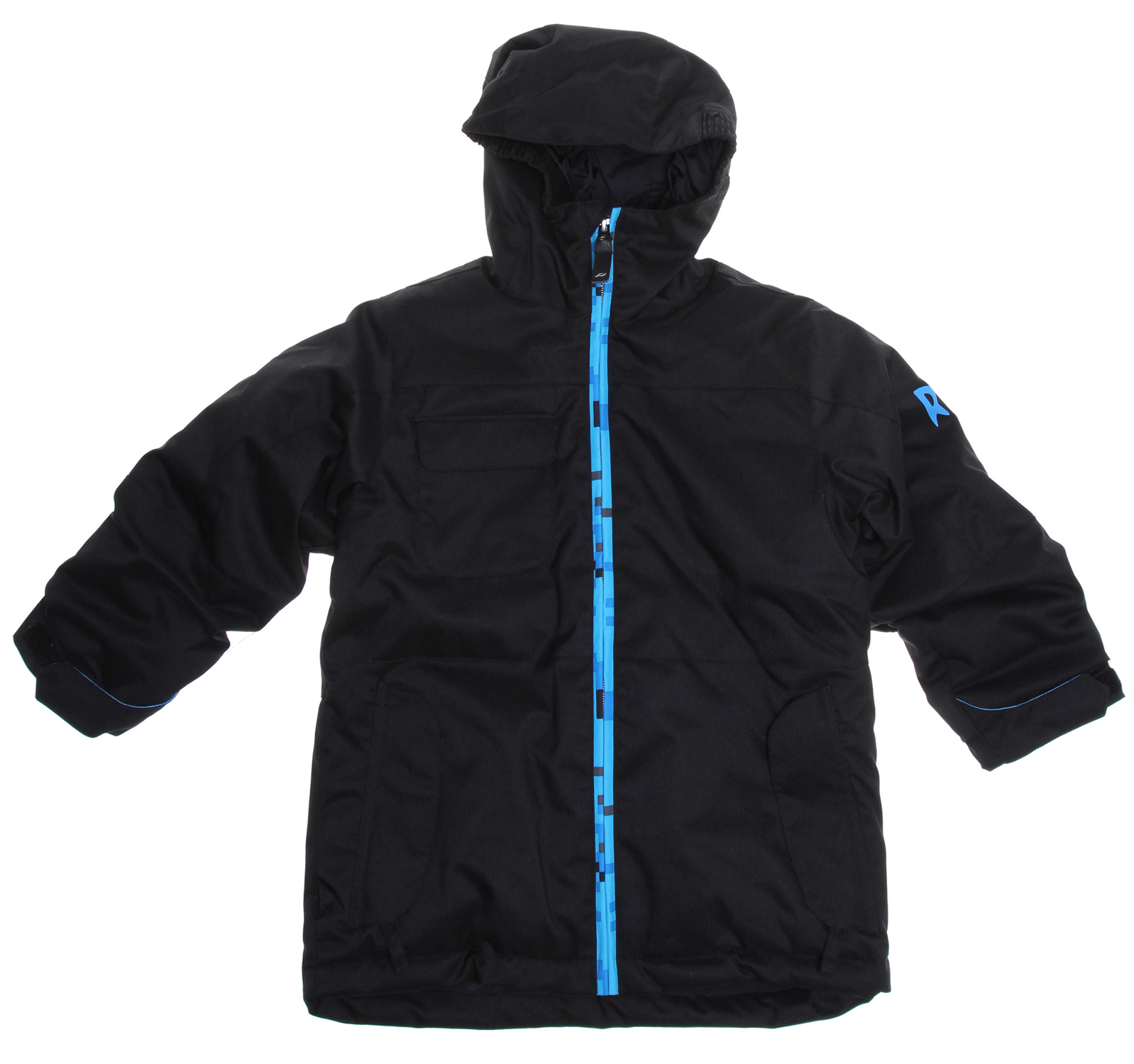 "Snowboard Built to keep your little one cozy and dry, the Joker boy's snowboard jacket features 150g Poly Insulation, 3k/2k waterproof breathable rating to keep them warm & dry while putting out the cool vibes.Key Features of the Ride Joker Snowboard Jacket: 3,000mm Waterproof 2,000g Breathability 150g Poly Insulated youth snowboard jacket with Tricot Lining Growth Seams at the Sleeve Hem That Extend out 1 1/2"" in Length Velvety Comfort Chin Guard Adjustable Elastic Cuffs with Glove Hook Loops Attached Hood Adjustable Elastic Hood Adjustments Inner Front Pocket One-Handed Draw Cord Front Micro-Fleece Lined Toaster Pockets Lift Ticket Self-Fabric Loop - $77.95"