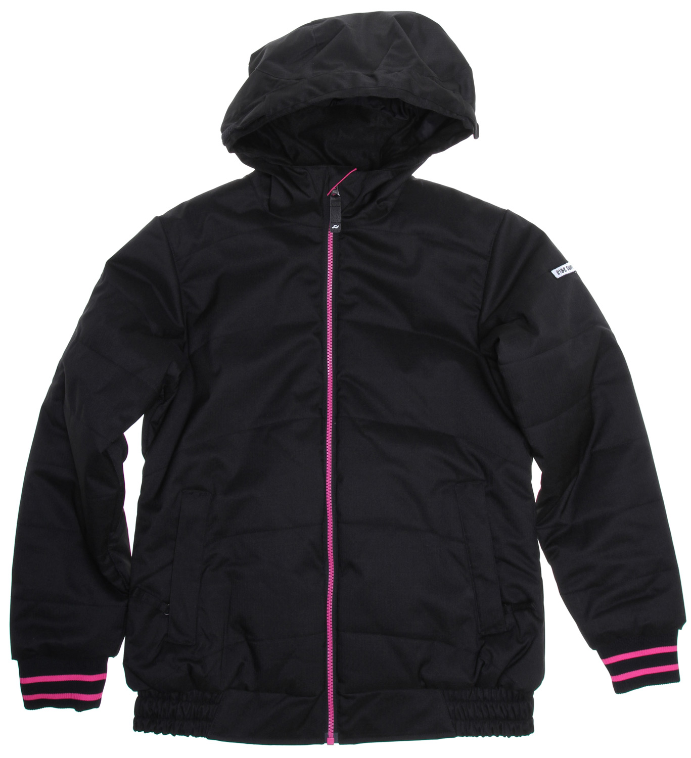 "Snowboard The Ride Shelby girls insulated snowboard jacket offers premium warmth and protection for your up-and-comer with a 200g Poly Insulation and 5k/5k waterproof breathable rating, keeping her out on the slopes instead of breaking down in the lodge.Key Features of the Ride Shelby Snowboard Jacket: 5,000mm Waterproof 5,000g Breathability 200g Poly Insulated girls snowboard jacket with Tricot Lining Growth Seams at the Sleeve Hem That Extend out 1 1/2"" in Length Velvety Comfort Chin Guard and Inner Collar Adjustable Ribbed Knit Cuffs Attached Hood Adjustable Elastic Hood Adjustments Inside Media Pocket Lift Ticket Self-Fabric Loop Front Micro-Fleece Lined Toaster Pockets Elastic Bottom Hem Side Panels - $83.95"