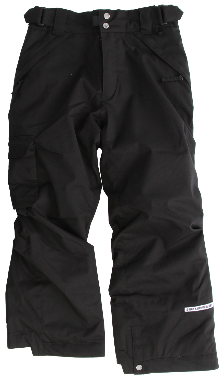 "Snowboard The Ride Dart youth snowboard pant is built tough with a 5k/5k waterproof breathable rating, Critically Taped Seams and an 80g Poly Insulation so your up-and-comer stays warm and dry, up until last chair!Key Features of the Ride Dart Snowboard Pants: 5,000mm Waterproof 5,000g Breathability 80g Poly Insulation with Taffeta Lining Side Pocket and Back Pockets Growth Seams at the Pant Hem That Extend out 1 1/2"" in Length Adjustable, Double-Snap Elastic Waist Closure Velvety Tricot Inner Waist, Butt and Fly Shred-Free Slightly Higher Pant Leg Back Boot Gaiters Lift Ticket Self-Fabric Loop Kids' snowboard pant with front Micro-Fleece Lined Toaster Pockets - $70.95"