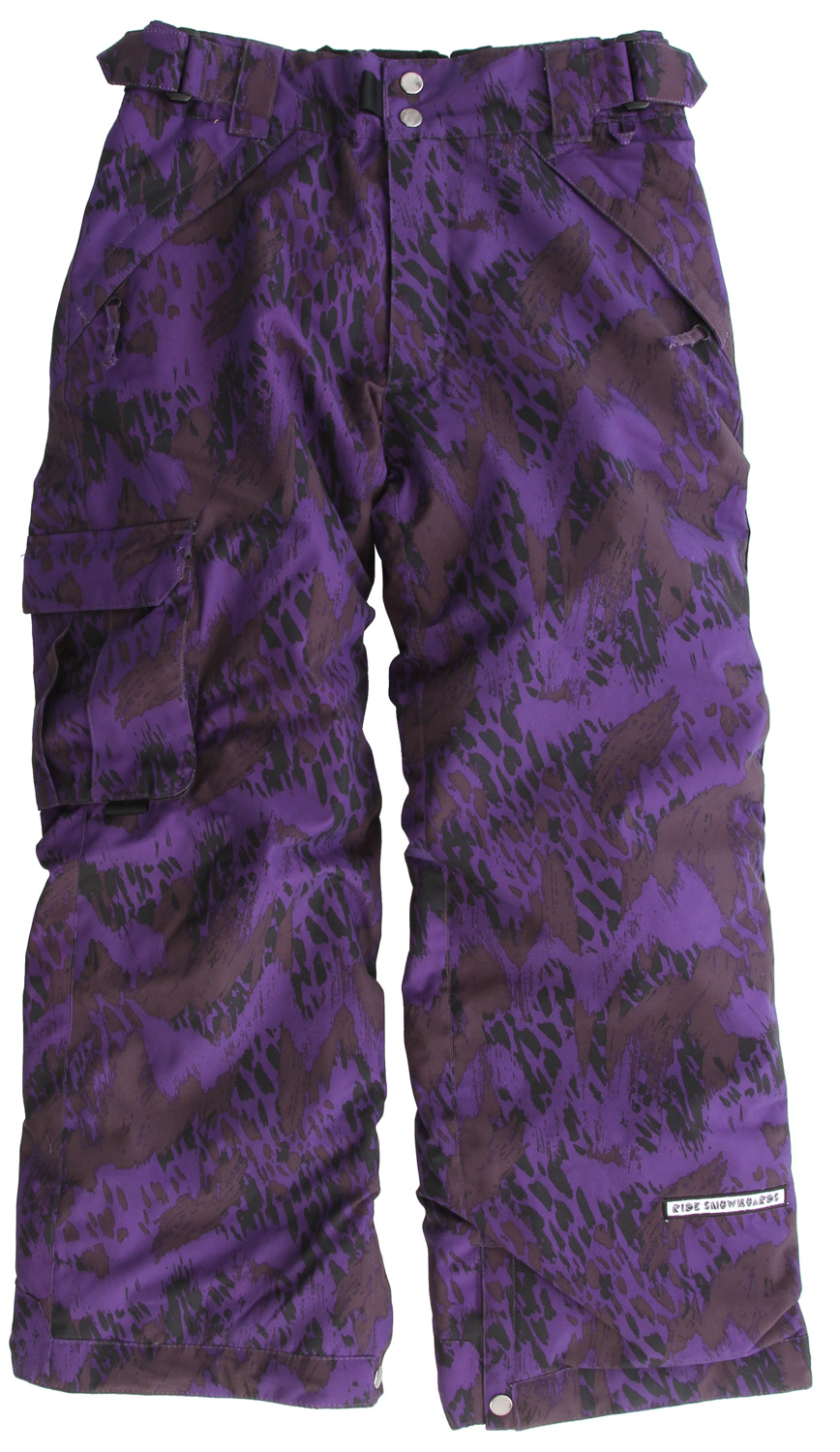 "Snowboard The Ride Dart youth snowboard pant is built tough with a 5k/5k waterproof breathable rating, Critically Taped Seams and an 80g Poly Insulation so your up-and-comer stays warm and dry, up until last chair!Key Features of the Ride Dart Snowboard Pants: 5,000mm Waterproof 5,000g Breathability 80g Poly Insulation with Taffeta Lining Side Pocket and Back Pockets Growth Seams at the Pant Hem That Extend out 1 1/2"" in Length Adjustable, Double-Snap Elastic Waist Closure Velvety Tricot Inner Waist, Butt and Fly Shred-Free Slightly Higher Pant Leg Back Boot Gaiters Lift Ticket Self-Fabric Loop Kids' snowboard pant with front Micro-Fleece Lined Toaster Pockets - $76.95"
