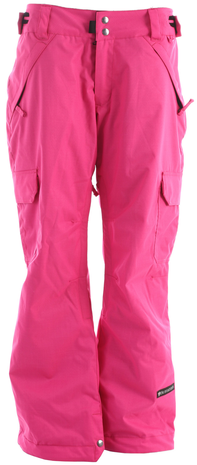 Snowboard The Ride Highland women's snowboard pant comes with a 10k/5k waterproof breathable rating, Critically Taped Seams and all of the 10K Rideractive Features making a super functional and stylish snowboard pant that won't break the bank. Key Features of the Ride Highland Snowboard Pants: 10,000mm Waterproof 5,000g Breathability Shell snowboard pant with Tricot Lining Back and Side Cargo Pockets Inner Adjustable, Double Snap Waist Closure Articulation at the Knees Mesh-Lined Vents Slider Liner Velvety Tricot Inner Waist, Butt and Fly Inner Lower Leg Snap Pleat Boot Gaiters Shred-Free Slightly Higher Pant Leg Back Lift Ticket Self-Fabric Loop Front Micro-Fleece Lined Toaster Pockets Classic Fit snowboard pant - $111.95
