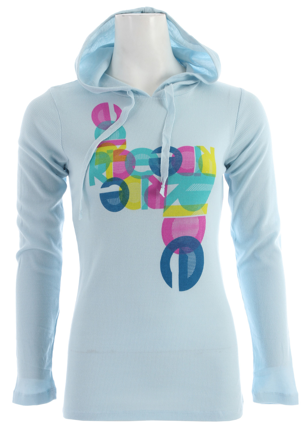 Need a little warmth? Add the Ride women's Glam Thermal on under a hoodie or wear it as it is and you will be cozy.Key Features of the Ride Glam Thermal: Long Sleeve Hooded Thermal Silkscreen 100% Cotton - $24.95