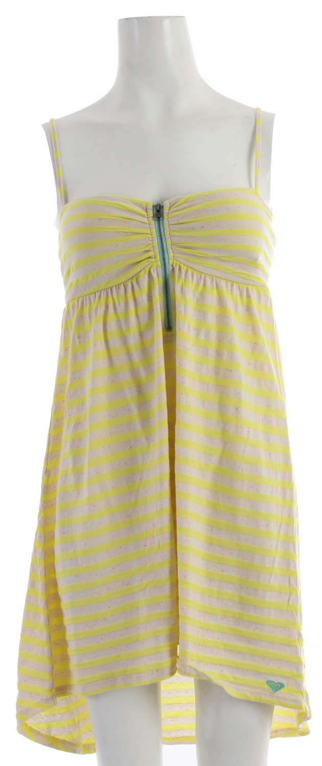 Surf Yes, you can do pirate stripes. And it doesn't even have to be October. Our Sage Brush sundress brings fashion forward know-how to the hot trend with vibrant neon colors, a center front zip, and supportive bust cups to keep everything in place. Finished with smocking at center back and a flirty hi-lo hem, it's just the dress to wear when you want to shiver their timbers. 32-inch length at front. 35.5-inch length at back. Imported. Machine wash. - $31.95