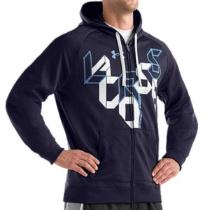 Fitness Armour(R) Fleece fabrication provides warmth without weightUA Lacrosse shuffle print graphicFull zip versatilityFront pockets7.5 oz. 100% PolyesterImported - $44.99