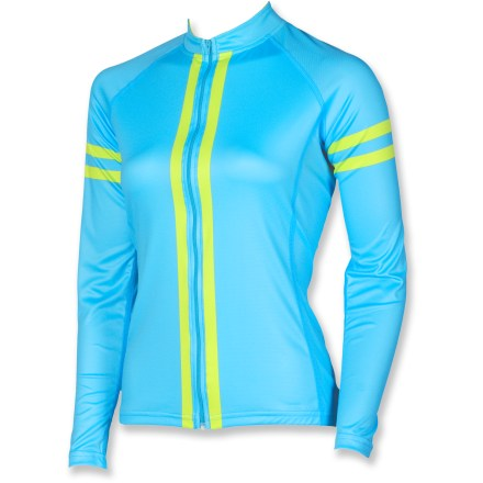 Fitness The Canari Racer X women's bike jersey anticipates your everyday riding needs. Features include sun-protective fabric, comfortable flatlock seams and 3 rear pockets to stow your goodies. Polyester draws moisture away from the body for quick evaporation. With a UPF 30 rating, fabric provides very good protection against harmful ultraviolet rays. Flatlock seams ensure chafe-free comfort. Raglan sleeves offer nonbinding, seamless comfort at the shoulders. Full front zipper gives you total control of ventilation. Elasticized droptail hem ensures stay-put coverage. 3 elasticized rear pockets expand to store cycling essentials and food. Athletic fit of the Canari Racer X women's bike jersey reduces wind drag. Overstock. - $11.73
