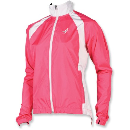 Fitness Zip up the collar, keep the chilly wind and weather at bay and show your support for breast cancer research in the lightweight Canari Foundation women's bike jacket. - $16.73