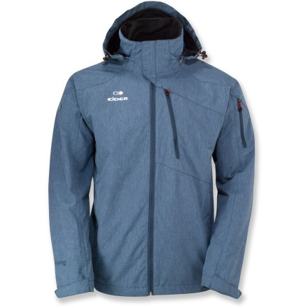 The men's Eider Yosemite rain jacket looks sleek while protecting against windy, rainy weather. You can depend on this jacket's protection whether you're in town or on the mountain. - $89.83