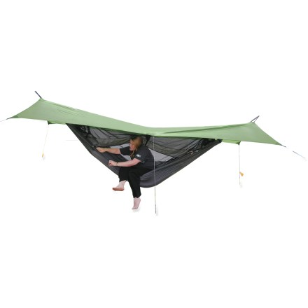Camp and Hike The Exped Scout Hammock Combi merges vesatility and comfort so you can have the satisfaction of swinging, daydreaming and sleeping outdoors. 3-season design lets you use it in nearly any weather. - $139.93