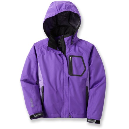 The Killtec Angelina Jr. jacket for girls provides a waterproof, windproof and breathable layer of comfortable protection from the elements while they enjoy outdoor fun in inclement weather. - $17.83